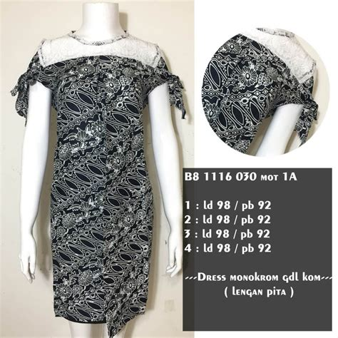 jual dress batik gondil kombinasi brokat dres batik modern