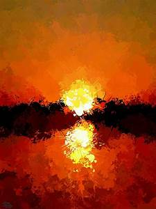Abstract Sunset On The Sea Painting by Bruce Nutting