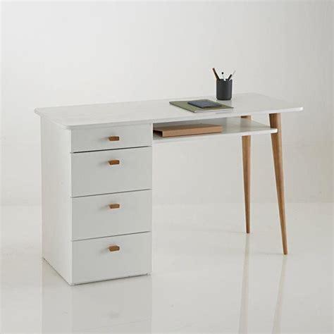 bureau blanc la redoute bureau 4 tiroirs jimi bureaux et