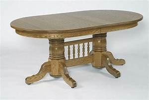"""Amish 72"""" Double Pedestal Oval Dining Table with Center"""