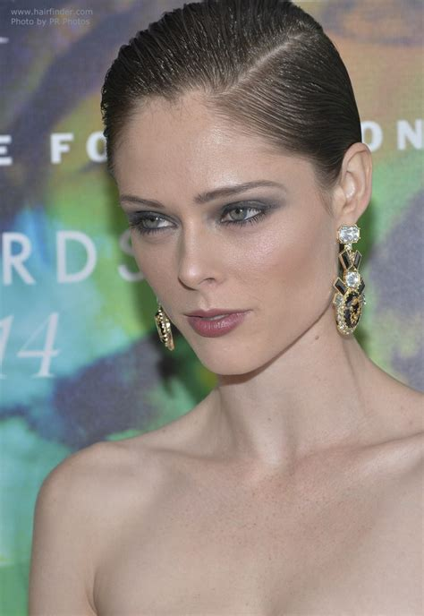 Coco Rocha   Short hair slicked back with gel for a wet look