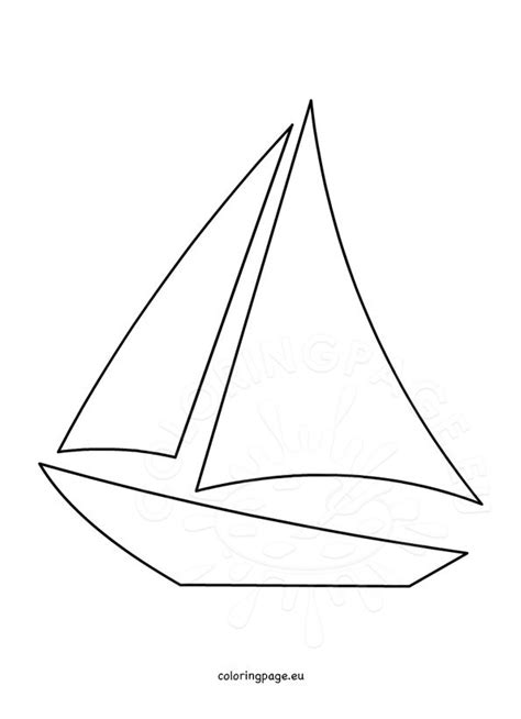 sailboat template sailboat template printable coloring page