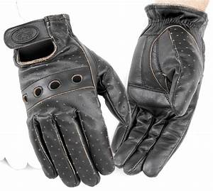 River Road Outlaw Vintage Men's Leather Motorcycle Glove ...