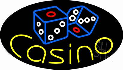 Casino Neon Sign Dice Flashing Signs Enlarge