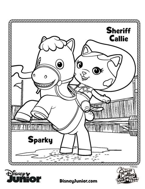 sheriff callie coloring pages sheriff callie s west coloring pages free to print