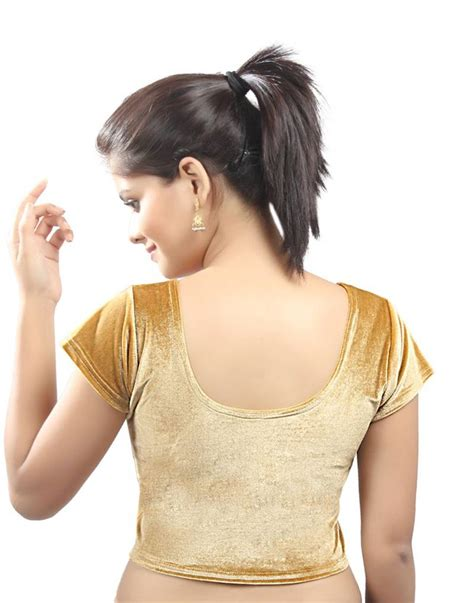 stretchable blouse buy gold velvet stretchable blouse size xl