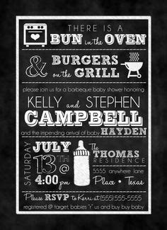Burgers Beer & Baby Talk Couple's Shower by papernpeonies