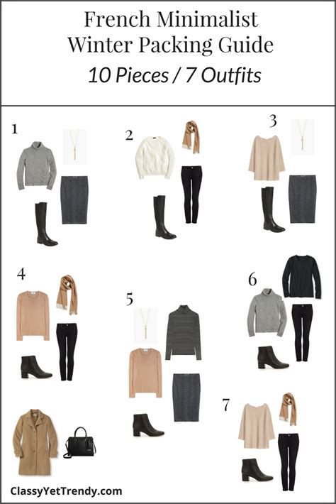 French Minimalist Winter Travel Packing Guide  Classy Yet