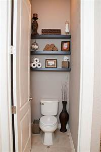 Powder room shelves home pinterest for 5 bathroom storage over toilet ideas