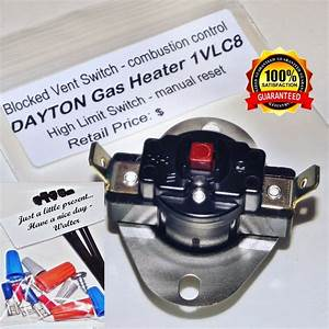 Dayton 1vlc8 Blocked Vent Switch