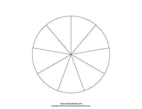 blank pie chart templates   pie chart