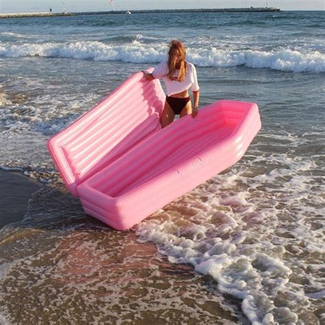 pink coffin shaped pool floats coffin pool float