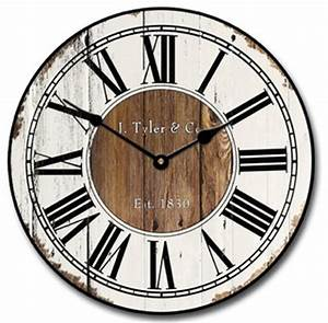 Old Gallery Wall Clock Farmhouse Wall Clocks By