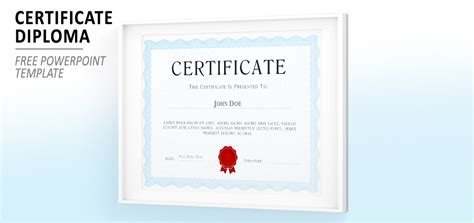 Certificate Template Powerpoint by Powerpoint Certificate Diploma Template