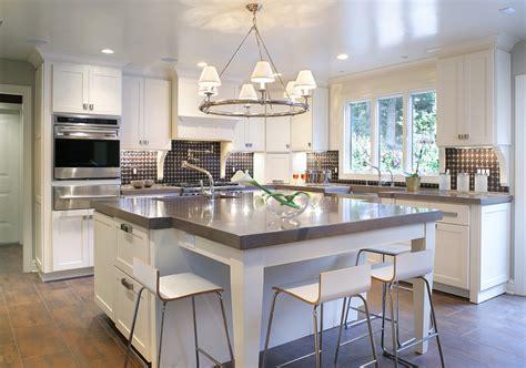 smart kitchen island designs  double   snack bar