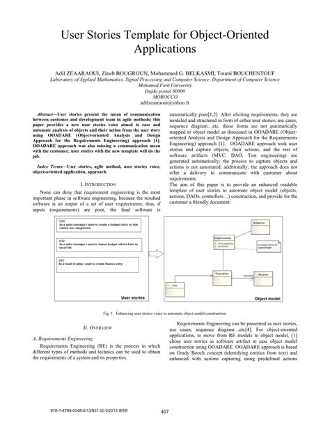 user story template pdf pdf user stories template for object oriented applications