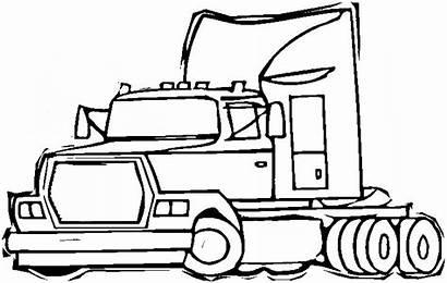 Coloring Semi Truck Wheeler Disegno Colorare Camion
