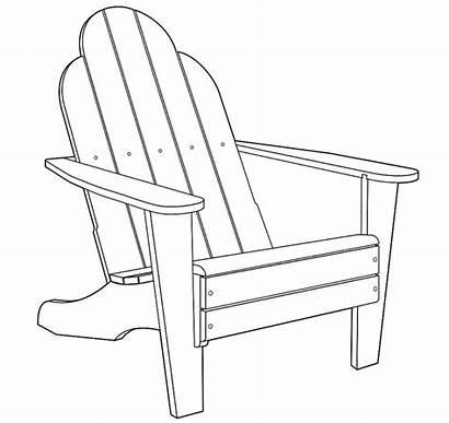 Chair Adirondack Clipart Plans Beach Coloring Muskoka