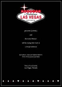 invitation programs las vegas wedding announcement