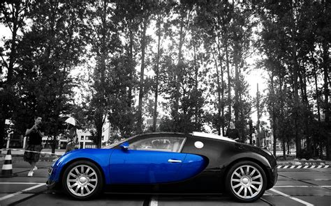 Bugatti Veyron High Speed by Blue And Black Bugatti Veyron 2012 High Speed Supercar Hd