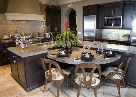 large kitchen island table 39 fabulous eat in custom kitchen designs