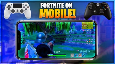 play fortnite mobile  controller ios iphone