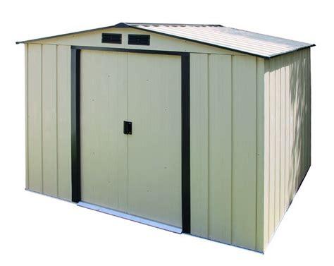 lifetime 10x8 sentinel shed duramax 10x10 eco metal storage shed kit 61235