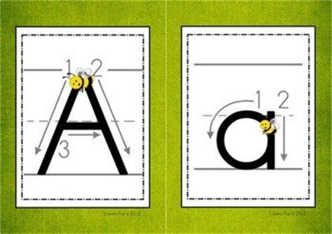 alphabet handwriting cards  directional arrows buggy