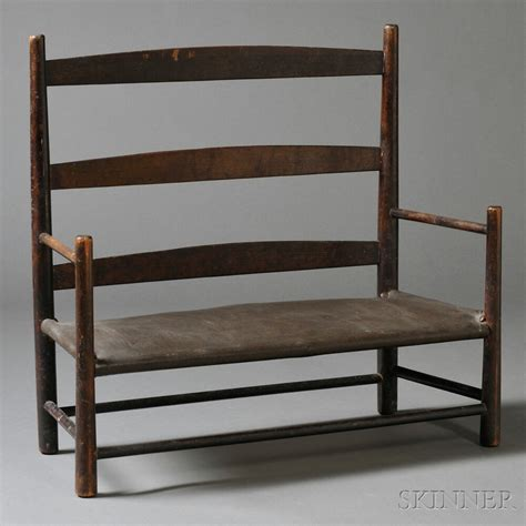 shaker settee small shaker settee bench and chair sale number 2669m