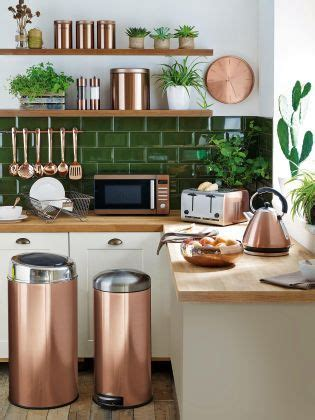 green kitchen accents there s no such thing as much copper up your interior 1379