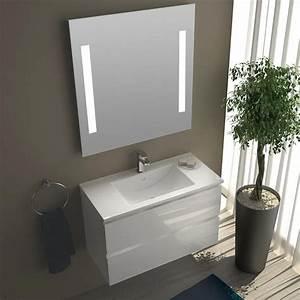 Promo Salle De Bain : pack promo meuble salle de bain 80x40 cm milo ~ Edinachiropracticcenter.com Idées de Décoration