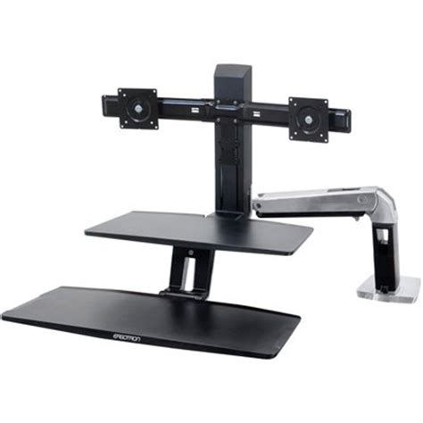 standing desk 24 392 026 ergotron workfit a with suspended