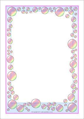 bubbles themed  page borders sb sparklebox