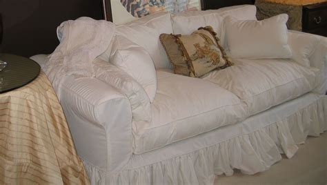 shabby chic slipcovered sofa the case for a custom made slipcover annsliee