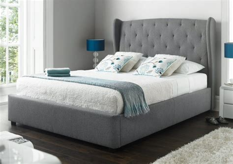 richmond upholstered winged ottoman storage bed bedroom