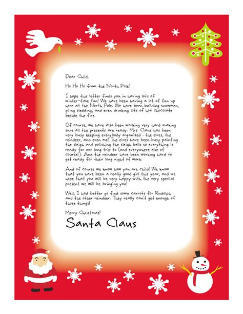 secret santa letter template secret santa letter church easy free letters from santa customize your text and 68441