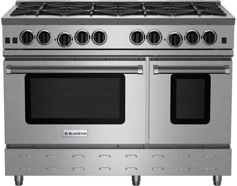 Bluestar Rnb488bv2ng 48 Inch Gas Range With 8 Open Burners