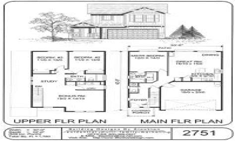 Small Two Story House Plans Simple Two-story House Plans
