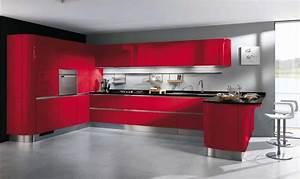 cuisine rouge et grise 35 photos la cuisine tendance et With idee d co cuisine rouge