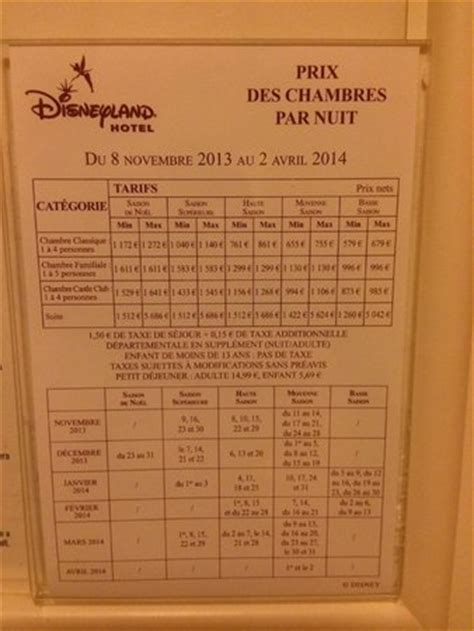 tarif chambre hotel tarif picture of disneyland hotel chessy tripadvisor