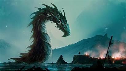 Dragon Fantasy Water Wallpapers Desktop Mobile