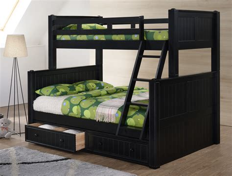 Dillon Black Twin Over Full Bunk Bed