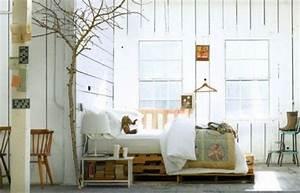 Grünpflanzen Im Schlafzimmer : bett aus paletten eine praktische diy idee f r umweltbewusste leute ~ Watch28wear.com Haus und Dekorationen