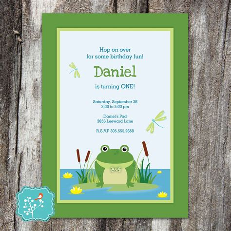 frog birthday invitation frog birthday  birthday