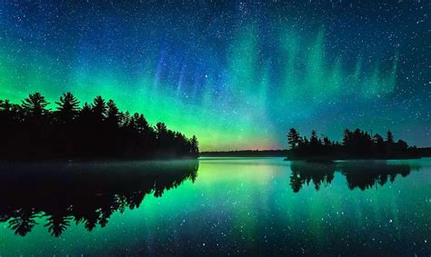 Northern Lights Minnesota by Northern Lights Borealis A Frozen Minnesota