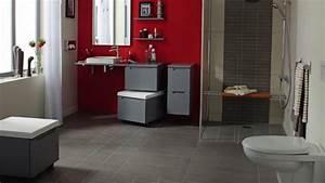 salle de bain rouge et beige With salle de bain grise et beige