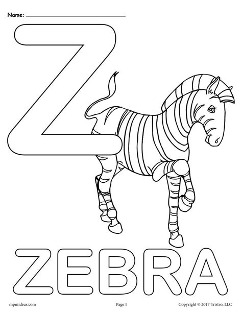 letter z alphabet coloring pages 3 free printable versions supplyme