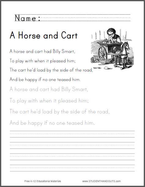 horse  cart worksheet  kids   print