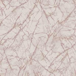 Metallic Marble Wallpaper - Rose Gold DIY - B&M