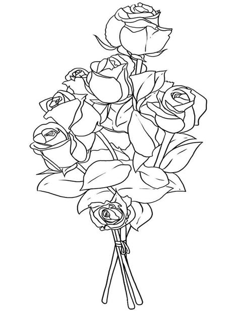 Coloring Pages For by Flower Bouquet Coloring Pages And Print Flower